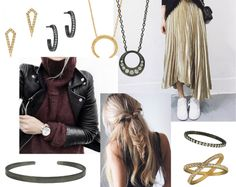 Gold and Rhodium hvisk jewelry