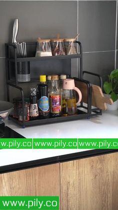 spice rack organization space saving Spice Rack Organization, Spice Rack Organiser, Kitchen Organization, Kitchen Shelves, Kitchen Storage, Indian Home Decor, Organizing Your Home, Home Decor Kitchen, Home Decor Furniture