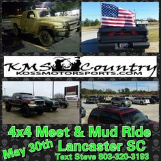 "4x4 Meet!!  Then Mud Ride!! 9 Mile, Dick Hill and then the Rapids after   ""Forever Home"" National Pet Adopt-A-Thon   May 30th 10A.M. to 5P.M.   Then Mud Ride!! 9 Mile, Dick Hill and then the Rapids after   FREE Charity Car, Truck & Motorcycle Show & Cruise in (Donation Dog Food $$$ Dish Fill) Bring a dog food dish decked out to match your ride and whoever gets the most cash donated into the dish at end of day is our TOP DOG!!   1st Top Dog Award Trophy 28"", 2nd to 10th Puppy Pals award…"