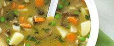 Houby vložte do kastrůlku a zalijte asi půllitrem vody, chvíli povařte. Ve velkém hrnci rozpusťte máslo a dozlatova na něm opražte mouku; trvá to asi... Cheeseburger Chowder, Thai Red Curry, Vegan Recipes, Food And Drink, Fit, Ethnic Recipes, Shape, Vegan Dinner Recipes, Vegetarian Recipes