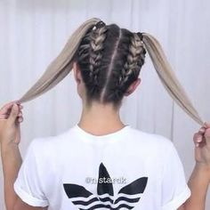 Simple Coiffure Concepts For Your Hair Hair simple fingers Concepts Fast Hairstyles, Girl Hairstyles, Braided Hairstyles, Amazing Hairstyles, Hairstyles Tumblr, Teenage Hairstyles, Girls School Hairstyles, Girl Haircuts, Modern Hairstyles