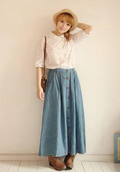 Mori girl, style cũng rất hay, nhưng do không biết phối đồ nên trước nay đành toàn....để ngắm :'(