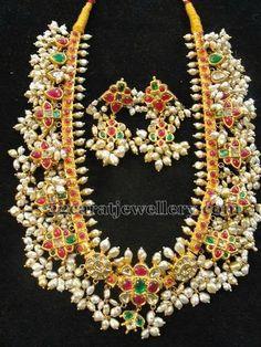 Jewellery Designs: Tremendous Gotapusalu Necklace