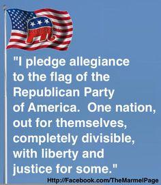 GOP Pledge of Allegiance #uniteblue
