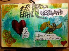 An Art Journal I made for my daughter for Christmas.