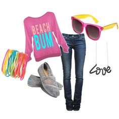 Casual Beach, created by basketcutie on Polyvore