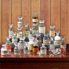 Vintage Apothecary Jars Includes 4 Sizes, Set of 24. Small imperfections, variation in shapes and sizes are natural characteristics of Hand-Blown glass) - Glass Product Description • Product Dimension