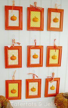 Cute and crafty DIY pumpkin art via Tatertots and Jello!