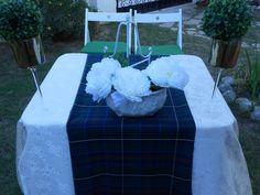 Mesa de ceremonia con tartán. www.eventosycompromiso.com