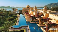 Hotel, The Oberoi Udaivilas, Udaipur, India Ranked No. 1 in the list of hotels and travel the world's best this year is the Oberoi Udaivilas and borders a Beautiful Hotels, Beautiful Places To Visit, Amazing Hotels, Amazing Places, Beautiful Scenery, Amazing Things, Wonderful Places, Hotels And Resorts, Best Hotels
