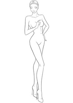 fashion figure template for fashion design sketches: