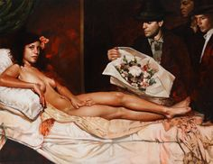 La Olympia de Turno (after olympia by manet)