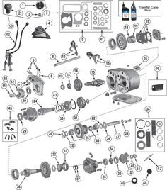 Dana Model 18 Transfer Case Parts for Jeep CJ5 & Willys | Jeep WIllys Parts Diagrams | Jeep