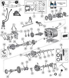 Interactive Diagram - Dana 300 Transfer Case for Jeep CJ7 & CJ8 Scrambler at Morris 4x4 Center