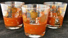 "Three Mid Century Modern Southwest Cowboy Barware Glasses 3-1/4"" in Pottery & Glass, Glass, Glassware | eBay"