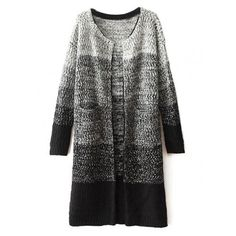 Sea Spray Knitted Long Sleeve Coat at Style Moi ($5) ❤ liked on Polyvore featuring outerwear and coats