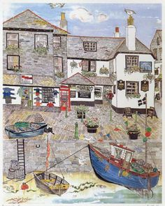 Seaside Inn (The Sloop St Ives) - Prints - Sally Kerr - Cornwall Art Galleries