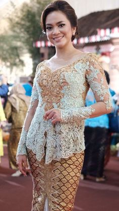 Kebaya Dress, Dresses With Sleeves, Long Sleeve, Fashion, Moda, Sleeve Dresses, Long Dress Patterns, Fashion Styles, Gowns With Sleeves