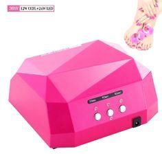 very cheap !29.9eur! Roleadro ® 36W Led nägel Lampe led nail light (12W CCFL + 24W LED) Nail Trockner fur Led UV…