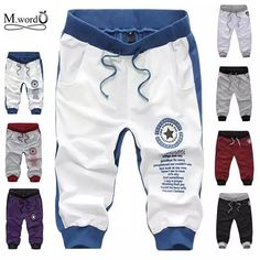 2019 new summer fashion cotton shorts casual letter pants - Fashion Kids, Baby Girl Fashion, Boys Joggers, Mens Jogger Pants, Fitted Joggers, Sweatpants, Nike Outfits, Sport Outfits, Boy Outfits