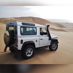 Land Rover Defender 90SW Td5, in the dunes of Namibia.