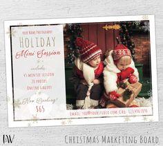 Holiday Mini Session Template, Christmas Mini Template, Christmas Mini Session Template, Chrstmas Marketing, Photoshop Template, Photography