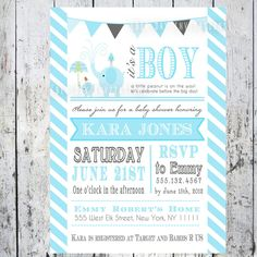 Invitation from Big Day Invitations, via Etsy.  For $12.50 you receive a customized PDF file so you can print them on card stock yourself or pay a minimal fee to have them printed and shipped to you.