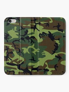 """""""Forest Army camo, camouflage, vector pattern in grey"""" iPhone Wallet by cool-shirts 