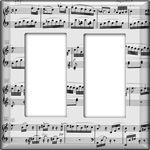 Sheet music light switch plate. DIY with your fav sheet music and modgepodge. looks pretty sweet in my room!