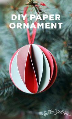 DIY Holiday Paper Ornament #LeonsHelloHoliday