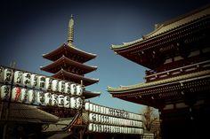 Tōkyō, Asakusa, Sensō-ji (Hōzōmon & Pagoda)