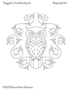 owl in flower circle
