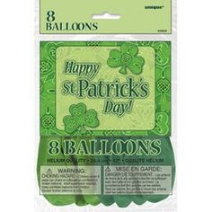 12 Latex St Patricks Day Shamrock Balloons 8ct *** Continue to the product at the image link.