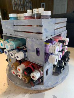 Craft Paint Storage, Paint Organization, Dollar Tree Organization, Organization Ideas, Dollar Tree Decor, Dollar Tree Crafts, Crate Crafts, Craft Shed, Craft Room Design