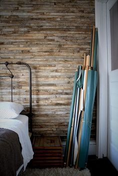 Weathered Board wall treatment