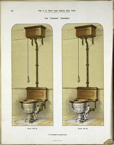 JL Mott toilet design in plumbing catalog Foyers, Plumbing Humor, Shower Plumbing, Old Sink, Pin Up, Victorian Bathroom, Toilet Design, Vintage Bathrooms, Bathroom Fixtures