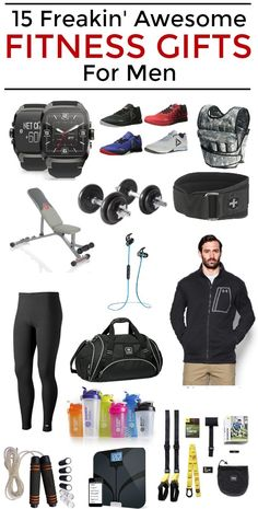 Fitness Gifts For Men Whether youre brand new to the fitness game or you pretty much eat sleep and breathe working out weve got something for you! Weve scoured the web to find the most perfect gifts of the Gifts For Your Boyfriend, Birthday Gifts For Boyfriend, Gifts For Husband, Boyfriend Presents, Fitness Gifts For Men, Mens Fitness, Fitness Gear, Diy Gifts For Him, Christmas Gifts For Him