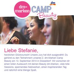 dm-Marken Camp Beauty 2014 - ich bin dabei!!!