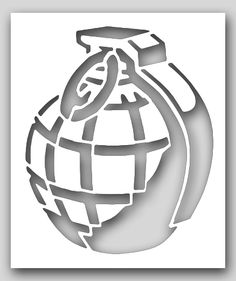 Hand Grenade Stencil   SP Stencils
