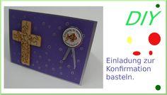 Einladungskarte zur Konfirmation selber Basteln [deutsch] Folge 2/8 - 2016  #cardmaking #kartenbasteln