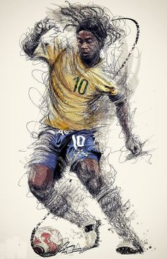 Stefan Feulner the sport wizard scroll through the images for other sport wizards Art Football, Brazil Football Team, Ronaldo Football, Soccer Art, Best Football Players, Soccer Players, Cr7 Messi, Messi Soccer, Messi And Ronaldo