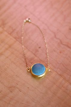 Delicate Gold Turquoise Stone  Bracelet by cocoandtoast on Etsy, $24.00