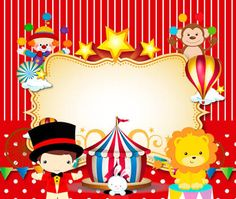 Bento 2 anos as hs Carnival Birthday Parties, Circus Birthday, Circus Theme, Baby Birthday, Birthday Party Themes, Clown Party, Decoration Cirque, Circus Invitations, Fiesta Party