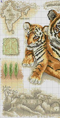 GRAFICOS PUNTO DE CRUZ GRATIS : TIGRES(29)