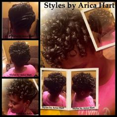 Lifted braid with rods hair style by Arica Hart - blogger - hair blog