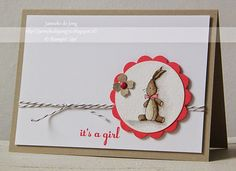 Stampin' Up! Demonstratrice Janneke : Stampin' Up! - It's a Girl