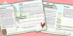 These planning and assessment resources for EYFS and will help you to cover all of the required elements in your lessons and assess children's learning. Primary Resources, Teaching Resources, Guidance Lessons, Life Lessons, Talk 4 Writing, Traditional Tales, Little Red Hen, Eyfs, Assessment