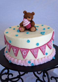 Bear Fondant Cake Topper by cakewhimsies on Etsy, $45.00