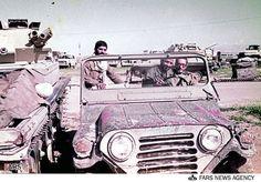 Iranian Army motorpool with M151A2 MUTT and FV101 Scorpion's, Iran-Iraq War.