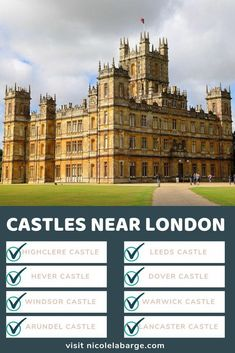 Visiting the countryside around London makes for a great day trip. Why not visit the Downton Abbey Castle or the Queen's Castle in Windsor. This article will tell you which ones are the prettiest castles to visit england travel castles 699113542137925264 Europe Destinations, Europe Travel Guide, Travel Guides, Travel Hacks, London England, Oxford England, Cornwall England, Yorkshire England, Yorkshire Dales